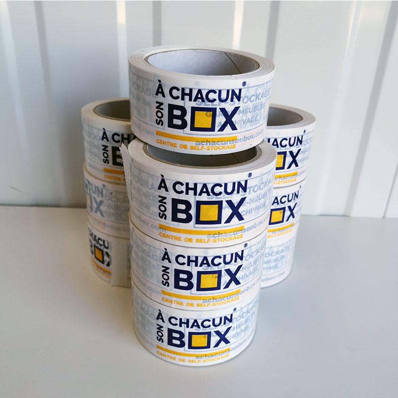 Lot de 10 rouleaux de scotch adhésif déménagement laboxboutik A Chacun Son Box Chalon-sur-saone