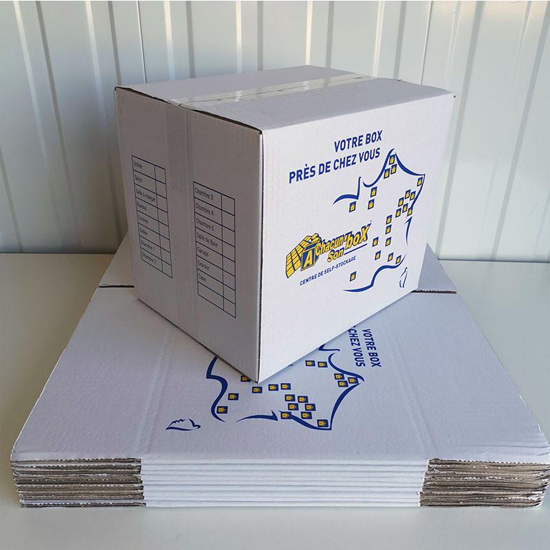 lot de 10 cartons déménagement petit format