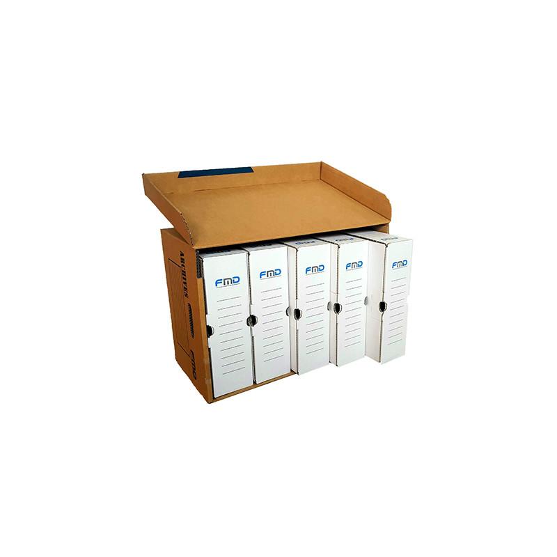 1 caisse et 5 boites archives