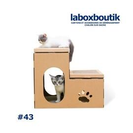 PitchBox#43 !  Ok voici un carton qui n'a pas encore rencontré un déménagement ! Mais j'ai craqué pour les chatons ! :)  #carton #déménagement #laboxboutik #venteenligne #drive #collect #livraison #beaune #chalonsursaone #bourgogne #zen